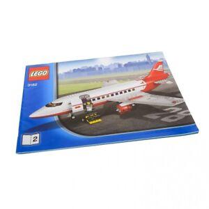 1x-Lego-Bauanleitung-A4-Heft-2-Town-City-Airport-Flugzeug-rot-weiss-3182
