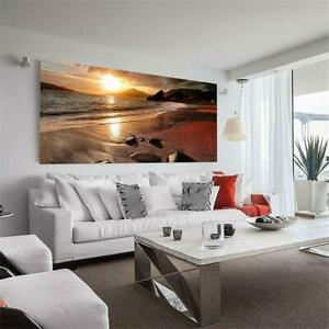 Frameless-Wall-Art-Canvas-Painting-Landscape-Posters-Sunset-Room-Decor-Home-New-039