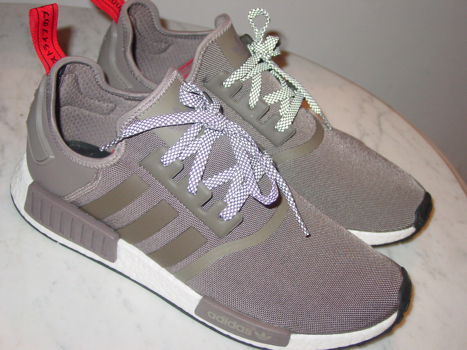 2016 Mens Adidas NMD R1 S81881 Nomad Boost Tech Earth White shoes  Size 12.5