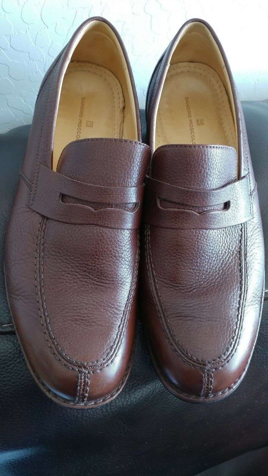 Sandro Moscoloni Brown Penny Loafers Slip On  shoes Size 8.5D