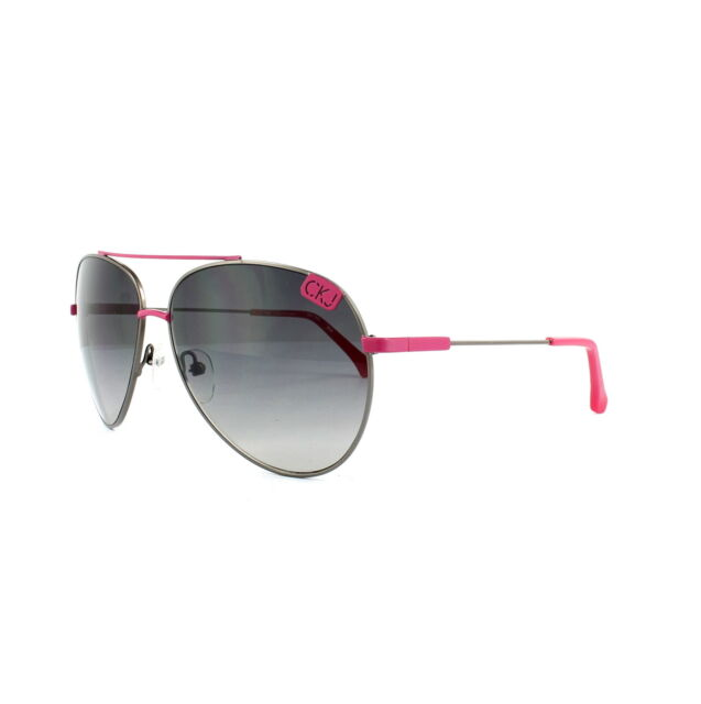 ab915842058e3 Frequently bought together. Calvin Klein Jeans Sunglasses CKJ106S 008  Gunmetal Pink ...