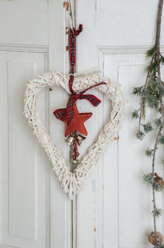 Weidenherz Rebherz Türkranz Herz Adventsdeko Weihnachten Shabby Chic Landhaus
