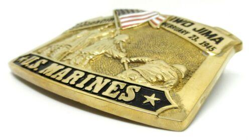 Marines Belt Buckle American Flag USA Military Solid Brass Baron Buckles U.S