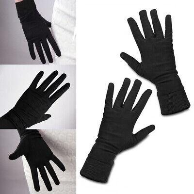 100/%Pure Silk Gloves Liner Black Man//Woman Inner Sports Motorcycle Bike