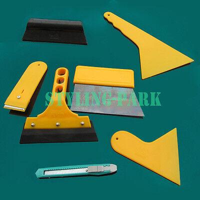 7 Car Window Light Scraper Wrapping Films Tint Vinyl Application Squeegee Tools