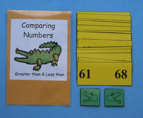 Teacher Made Math Centers Resource Comparing Numbers