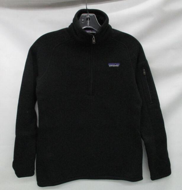 Patagonia Womens Better Sweater 14 Zip Fleece Pullover 25617 Black