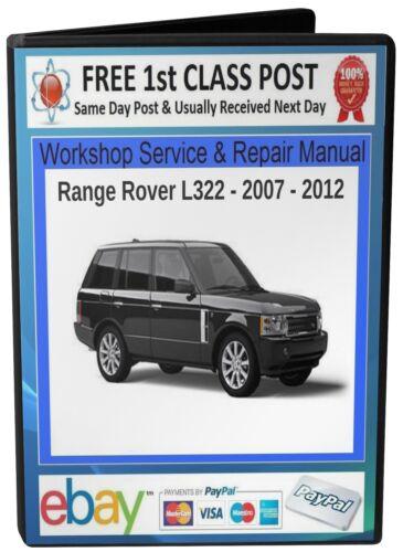 FREE POST RANGE ROVER L322 WORKSHOP SERVICE /& REPAIR MANUAL 2007-2012 On CD