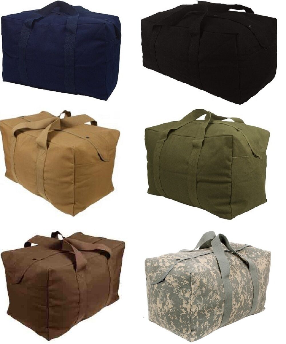 Heavy Duty Cotton Canvas Parachute Cargo Tote Luggage Travel Bag 3123 3523
