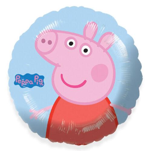"happy birthday 18/"" Pappa pig round foil helium elsa anna xmas spiderman minions"