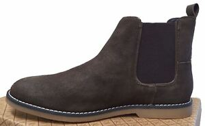 Desert Boots Penguin Gusset Chelsea Brown Suede Twin Lesta Mens ng4YH