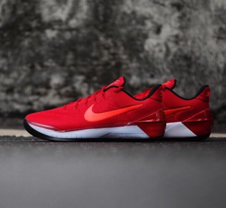 Nike Kobe 12 A.D. XII Red Crimson Black Bred 852425-608 Bryant AD Gym Sz 10.5