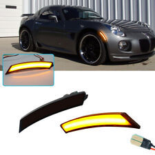 Smoked Amber Led Front Sidemarker Lamps For 06 10 Pontiac Solstice Amp Saturn Sky