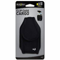 Nite Ize Clip Case Cargo Holster Small Black Rugged Nylon Phone Case Belt Pouch