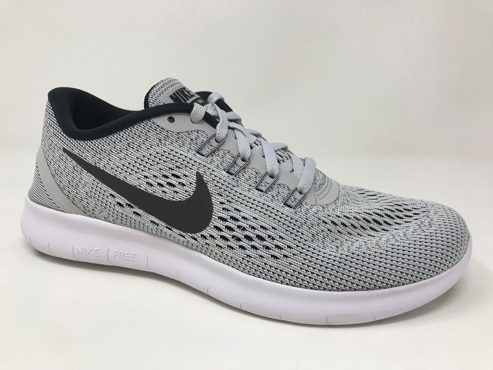 NEW Womens Nike Free Running Shoe Black/White 831509-101 R65