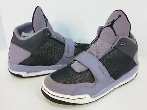 Nike-Jordan-FLTCLB-90s-GS-Youth-Basketball-Shoes-5-5Y-ANTHRACITE-BLACK-CEMENT