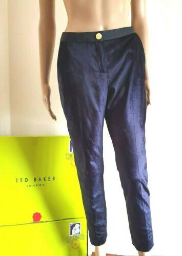 "TED BAKER /""KATCIAT/"" VELVET TROUSERS BNWT UK 10 TED 2 US 6 BNWT RRP £139.00"