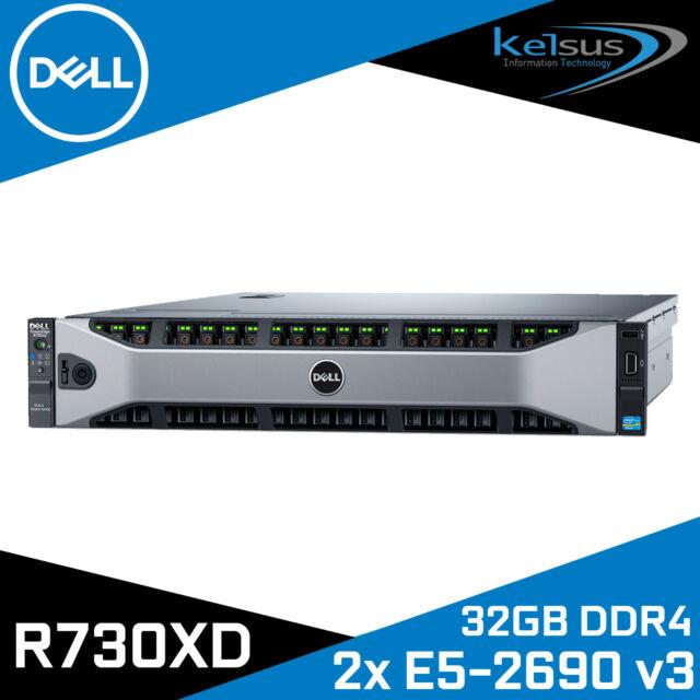 Dell PowerEdge R730XD 2x E5-2690 V3 12-Core CPU 32GB DDR4 H730 + Free PnP