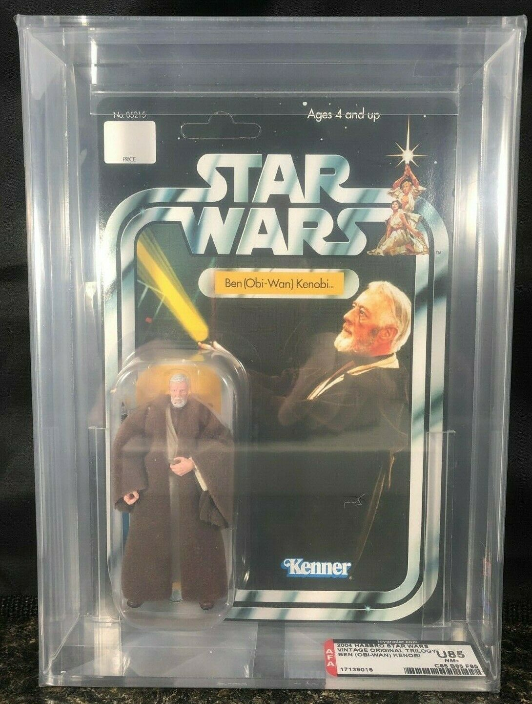 Star Wars Obi Wan Kenobi AFA U85 Vintage Original Trilogy Collection Non Perforé