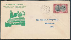 1939-Raymond-Bros-Awnings-Advert-Cover-RPO-London-Station-248-3c-Royal-Visit