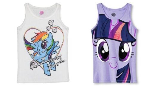 My Little Pony Girls Tank Tops Rainbow Dash or Twilight Sparkle Various Size NWT