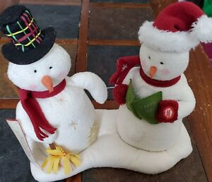 Hallmark Jingle Pals Singing Snowman With Tag Animated Musical Plush 2003 ~works