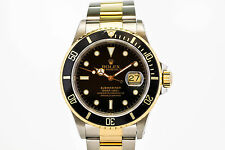 Rolex Submariner Date 16613 Stainless Steel & 18K Gold A Series Dive Watch