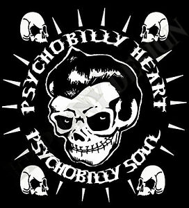 Psychobilly-Heart-Soul-T-Shirt-Mens-Ladies-Rockabilly-Goth-Biker-Rock-amp-Roll-50
