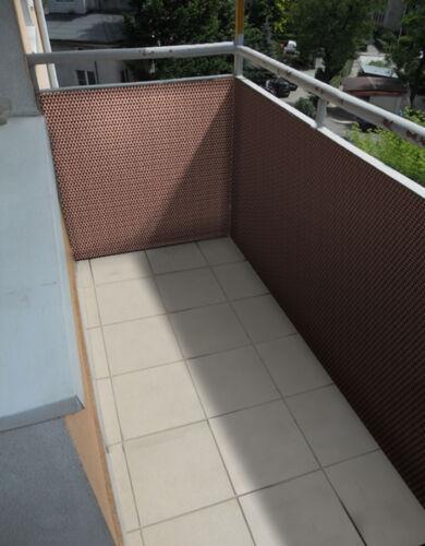 PE-Rattan Balkonblende Sichtschutzzaun Sichtschutzmatte 0,9 90 cm Meterware H