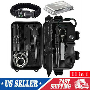 Survival Kit 11 IN 1 Emergency Tactical Defense Equipment Outdoor Camping Tools
