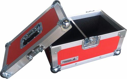 "Red Rigid PVC 7/"" Single 200 Swan Flight Case Vinyl Record Box"