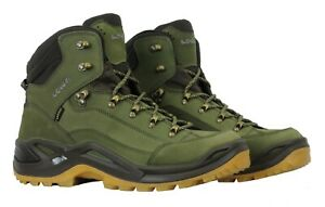 1ef91902b1a Details about Lowa Mens Renegade GTX Mid Boots 310945 7193 Forest/Dark  Brown Size 8.5