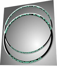 CAMPAGNOLO SHAMAL ULTRA CELESTE BIANCHI REPLACEMENT RIM DECAL SET  FOR 2 RIMS