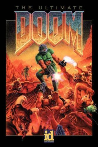 """DOOM Original Retro Video Game Poster 24x36/""""//60x90cm Silk Print"""