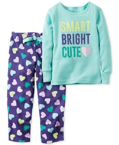NWT Carter/'s Toddler Girl 2-Piece Fleece Pajama Sets Sizes 2T-5T ASSORTED STYLES