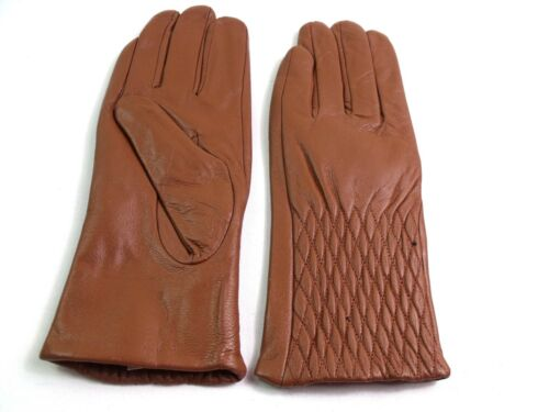 Ladies Premium High Quality Real Super Soft Leather Gloves Fully Lined Warm
