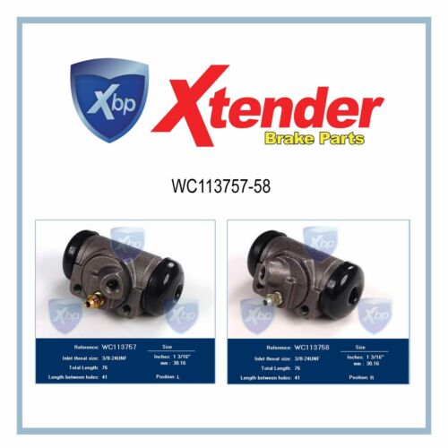 WC113757-58 Rear Brake Wheel Cylinder Ford Commercial Van E-Series Econoline