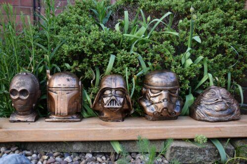 Free UK P/&P Star Wars Vader,Jabba,Trooper,Boba Fett /& C3-PO Stone Ornaments