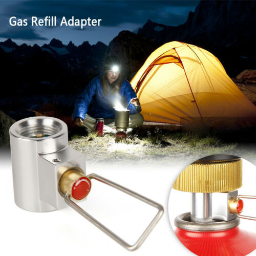 Flat Gas Tank Adapter Canister Gas Convertor Shifter Camping Cylinder