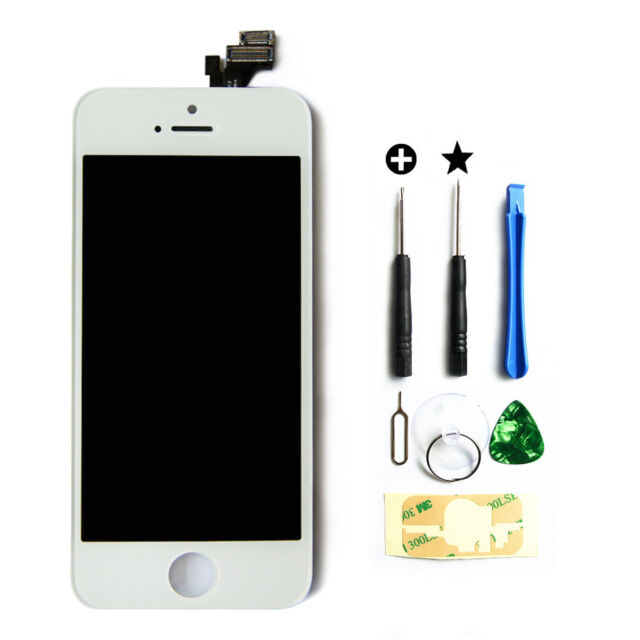 New LCD Screen Display Touch Digitizer Assembly Replacement for iPhone 5 white