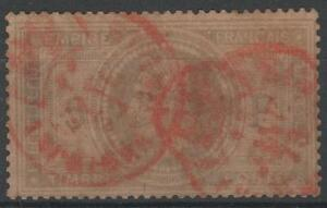 FRANCE-STAMP-TIMBRE-N-33-034-NAPOLEON-III-5F-034-OBLITERE-CACHET-A-DATE-ROUGE-N136