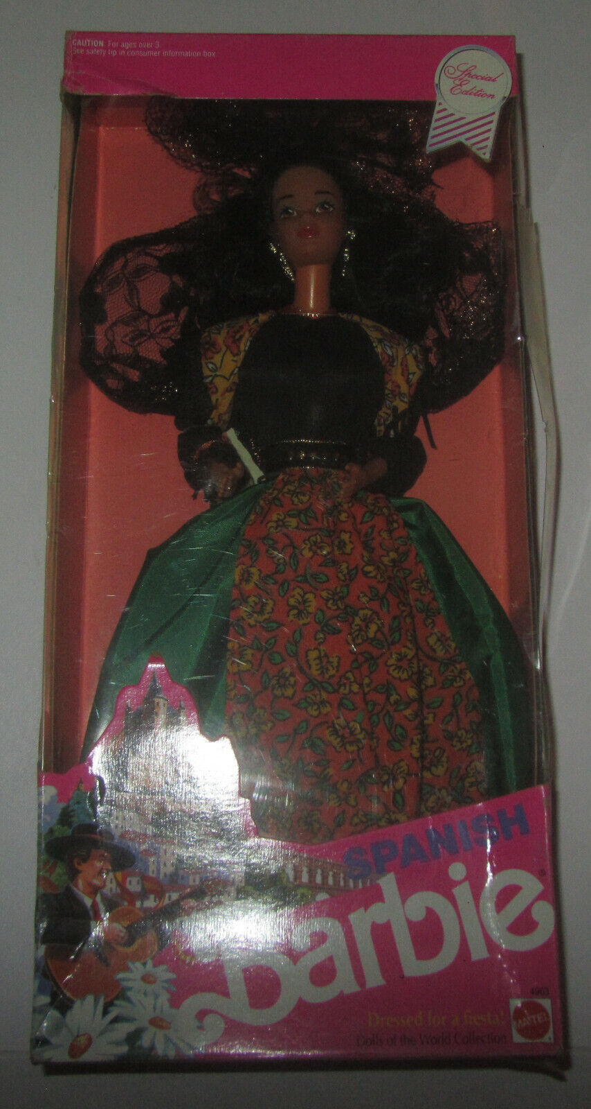 Barbie Mattel Spanish Dolls Of The World Special Edition 1991 Bambola