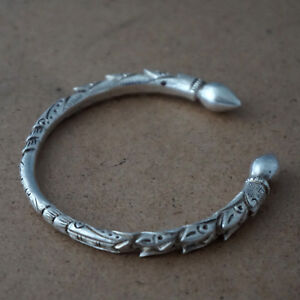 925-Sterling-Silver-Cuff-Bracelet-Bangle-Traditional-Nepali-Nepalese-Nepal-PS01a