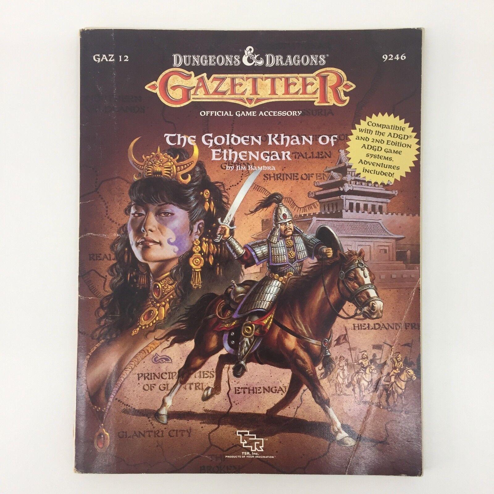 TSR Advanced Dungeons & Dragons Gazetteer el oroen Khan de ethengar D&D 9246