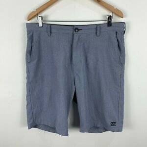Billabong-Mens-Board-Shorts-Size-33-Grey-Zip-Closure-Bermuda-Pockets