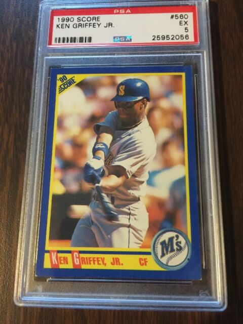 1990 Score Ken Griffey Seattle Mariners #560 Baseball Card PSA 5