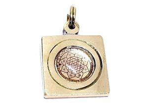 Details about Chakra Sri Shri Shree Yantra Laxmi Brass Pendant Energized  Blessed Om 1mm Corded
