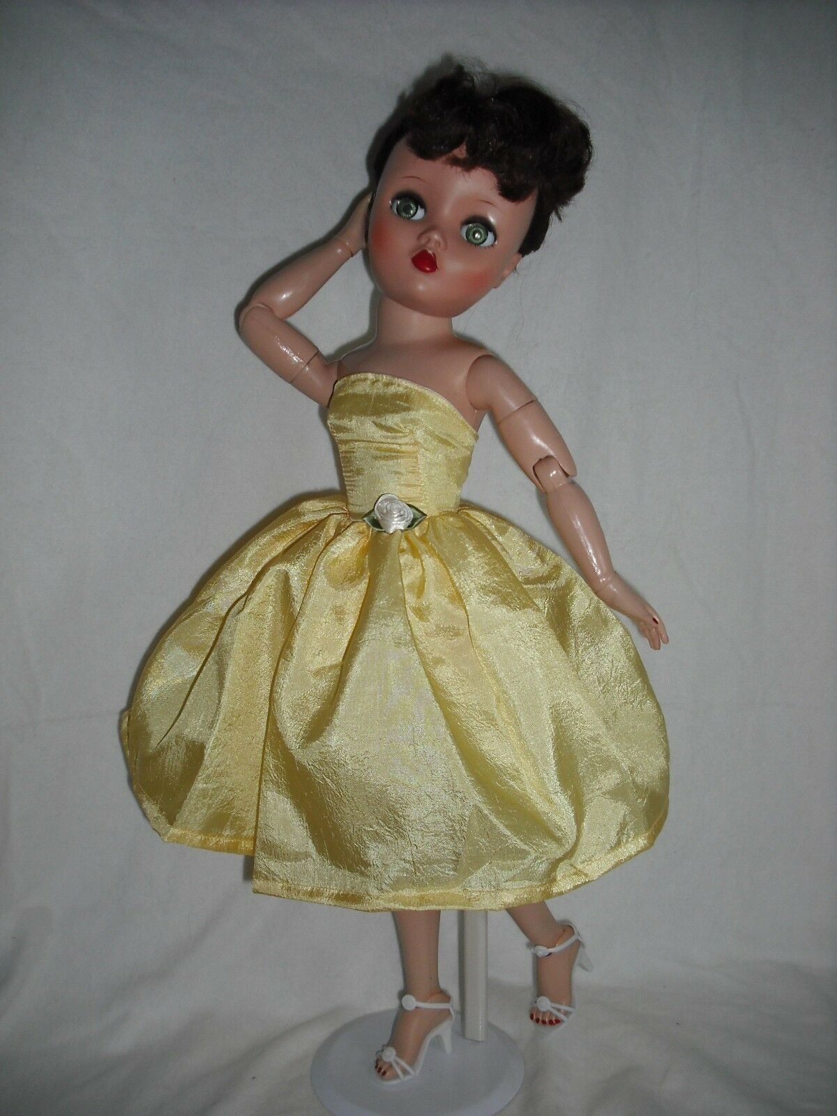 "NEW QUALITY Vintage Repro Dress Fits 19/"" 20/"" Uneeda Dollikin Fashion Doll By OTM"