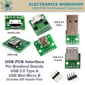 Micro-Mini-USB-DIP-Adapter-Converter-PCB-Breakout-Board-Module-Male-Female