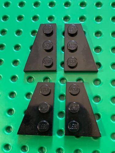 2 pairs Black PN 42722 42723 Lego Plate 2 x 3 wedge Left /& Right